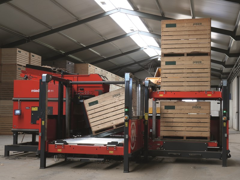 Box filler with a capacity of more than 80 boxes per hour