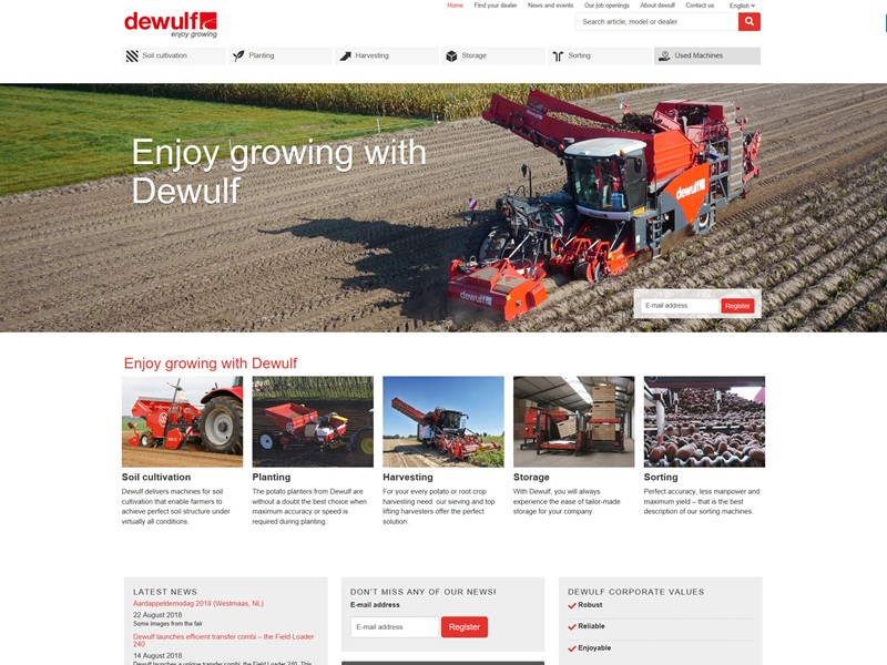 Dewulf launches new website