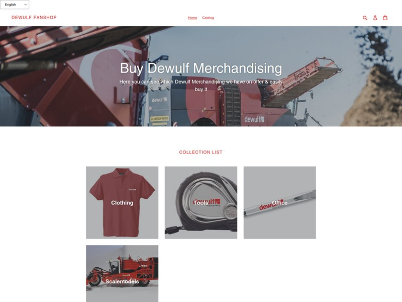 Launch Dewulf merchandising webshop