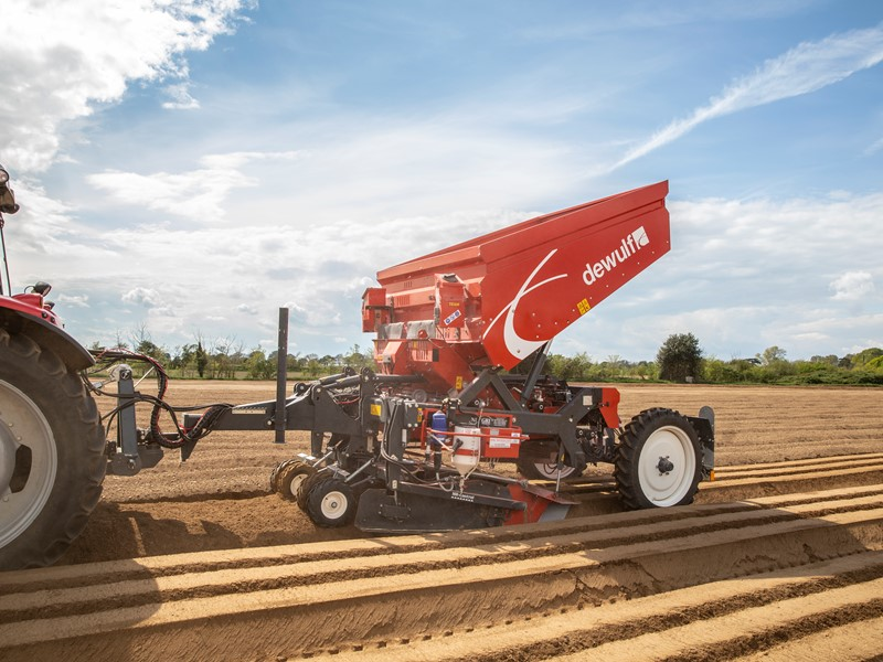 Mounted or trailed 3-row belt planter